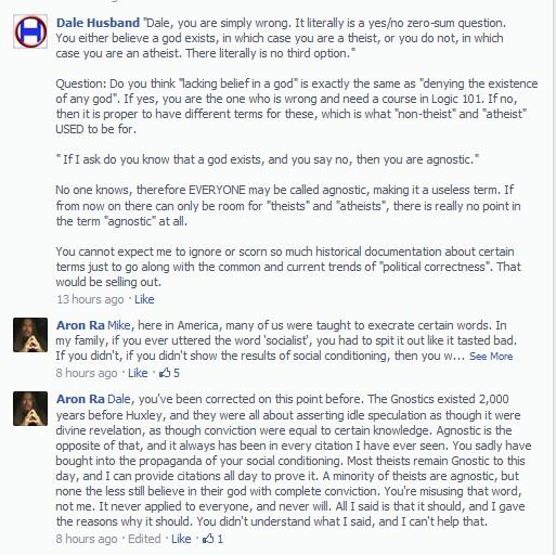 Atheist argument